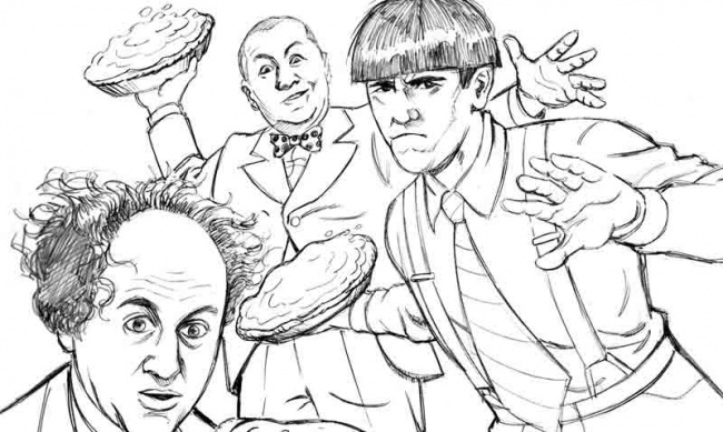 the three stooges coloring pages icv2 new 39 the three stooges 39 comics