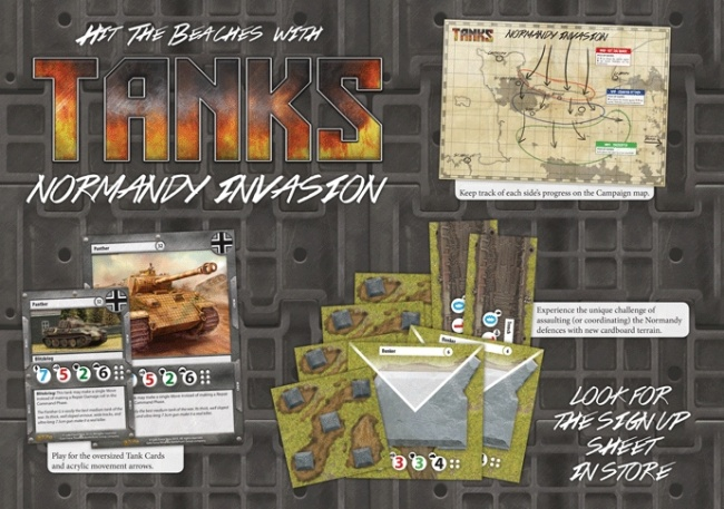 Esto es parte del primer kit de juego organizado proporcionado por galeforce nine y que recrea las primeras fases de la invasión de Europa por parte de los aliados así como la operación market garden.