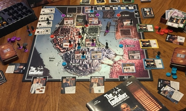Icv2 Review The Godfather Corleone S Empire Board Game